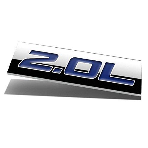 Chrome Finish Metal Emblem 2.0L Badge (Blue Letter)