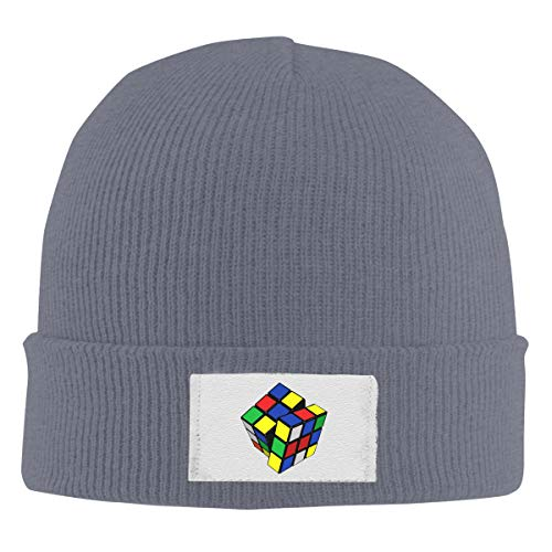 Unisex Elastic Knitted Beanie Cap Magic Cube Logo Winter Outdoor Warm Skull Hats ()
