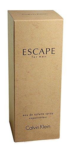 Calvĭn Kleĭn Escàpe Cologne for Men (Clear Glass Bottle) Eau De Toilette 3.4 fl. (Calvin Klein Escape)