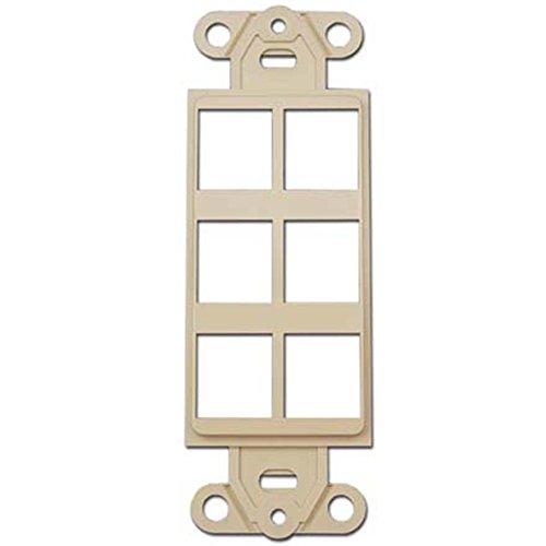 Keystone Decora Style Insert Strap, 6 Ports, Ivory