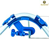 Image of SunGrow Hose Holder: Strong durable plastic: Firmly holds the pipe in place no slipping: Attaches to aquarium wall with a vice: Easily clean or change water with this holder