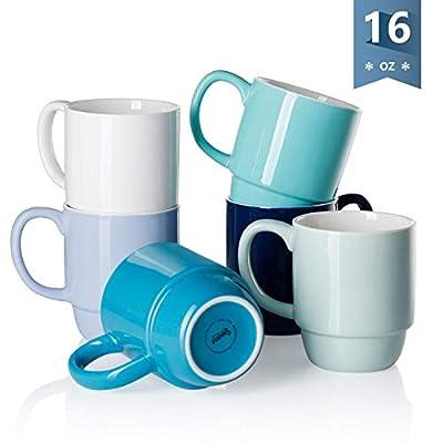 Sweese stackable coffee mug,set of 6