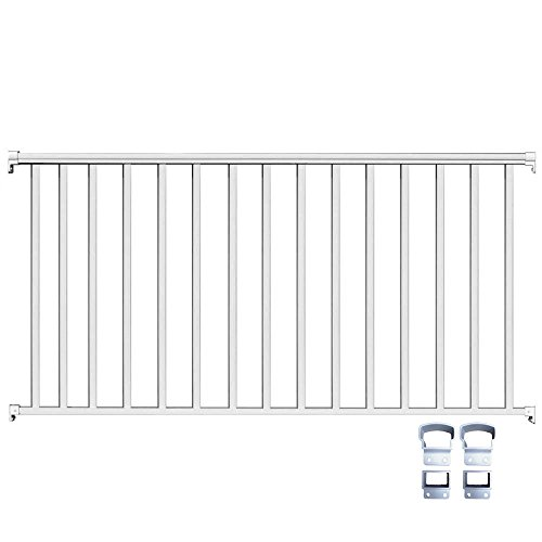 Aluminum Deck Railings - Contractor Deck Railing 6ft x 36in Aluminum Residential Railing - White