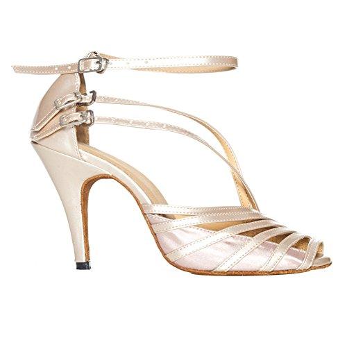 Sandales Salsa Pratique De De Avec Bal 3 Peep Misu Salle Danse Latine Femmes 3 Toe Chaussures Tango Talon rq0rIw