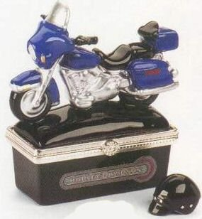 Harley Touring With Helmet Motorcycle PHB Hinged Box