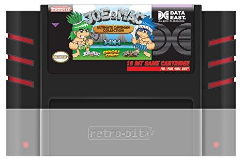 (Retro-Bit Joe & Mac: Ultimate Caveman Collection SNES Cartridge - Super NES;)