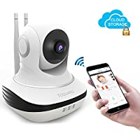 Toguard Wireless Security Camera, Cloud Storage Live Steam HD Home Surveillance IP Camera WiFi Baby Monitor with Night Vision Pan/Tilt Two way Talk ( Free App supports iOS Android)
