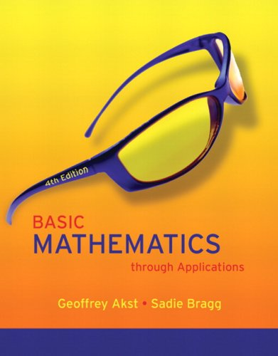 Basic Mathematics through Applications Value Package (includes MathXL 12-month Student Access Kit) (4th - Package Applications Value