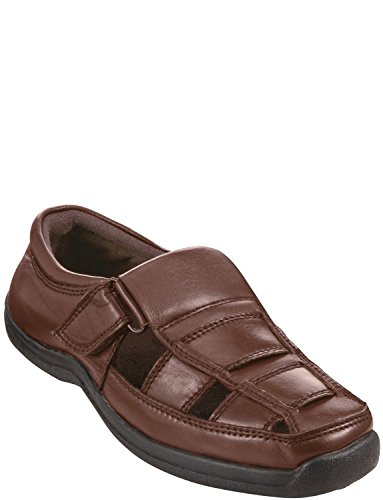 Chums Para Hombres De Classice Sandalia De Cuero/Zapatos Marrón