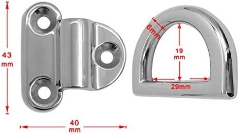 6 Small Folding Pad Eye Deck Lashing Ring Staple Cleat Trailer Marine Boat