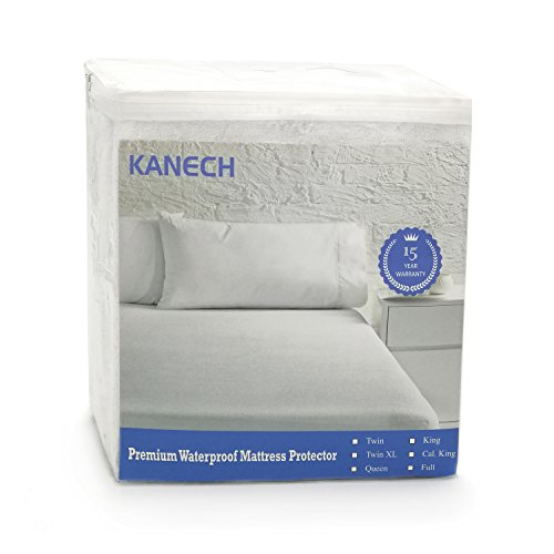 KANECH Premium Hypoallergenic Waterproof Mattress Protector,100% Cotton Terry Top Surface, Bed Bug Mattress Cover for Queen Beds 60 Inches x 80 Inches,15 Year Warranty