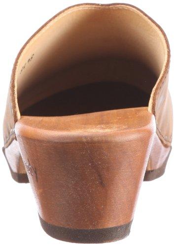 Woody Katharina 8418/82 - Zuecos de cuero nobuck para mujer Marrón