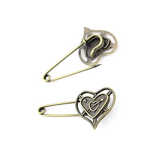 1 piece Anti-Brass Fashion Jewelry Making Charms 15550 Love Pin Brooch Wholesale Supplies Pendant Craft DIY Vintage Alloys Necklace Bulk Supply Findings