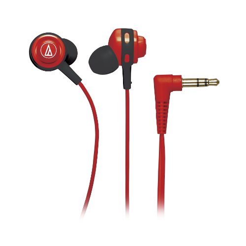 Audio Technica ATHCOR150RD In-Ear Headphones, Red