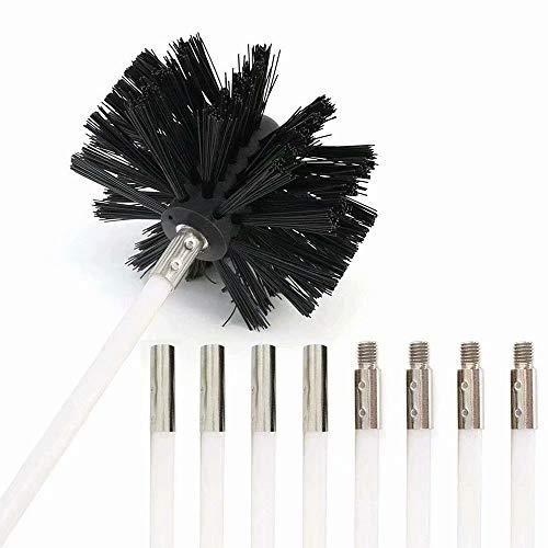 VacFit Dryer Vent Cleaner Kit Dryer Lint Brush Chimney Sweep Kit 12 Feet