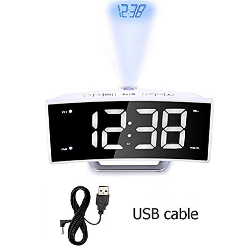 GOGR Espejo Radio FM Reloj Despertador Led Digital Digital ...