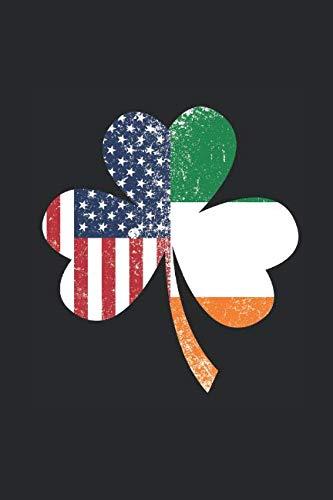 USA Ireland Shamrok Flag: Dotted Bullet Notebook - Gift Idea For St Patricks Day Celebration