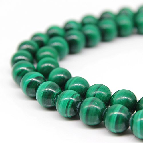 """JARTC AAAA Pure Natural malachite round natural stone beads For Jewelry Making Diy Bracelet Necklace Accessory 15"""" (8mm)"""
