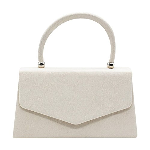 Shoulder Prom Burgundy Cckuu Handbag Evening Women's Bag Ivory Bag Velvet Clutch Envelope Suede YnqqzwHPW8