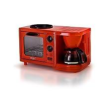 Elite Cuisine EBK-200R Maxi-Matic 3-in-1 Multifunction Breakfast Center, Red