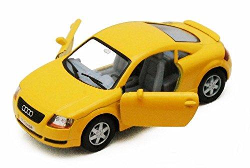 Audi Diecast Cars (Audi TT Coupe, Yellow - Kinsmart 5016D - 1/32 scale Diecast Model Toy Car)