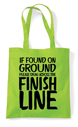 Shopper Found Bag Please Ground The On Finish Tote Lime Across Drag Line If HCZPqw6C