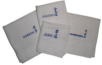 Toalla de mano de rizo con bordado Judo Azul: Amazon.es: Deportes y aire libre