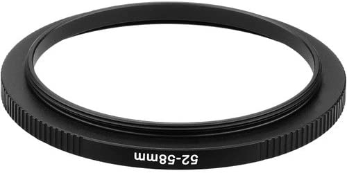 6 Pack Sensei PRO 52mm Lens to 58mm Filter Aluminum Step-Up Ring