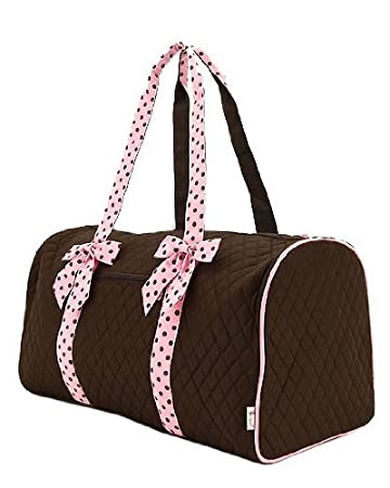 Amazon.com: Large Quilted Duffle Bag with Detachable Ribbons ... : quilted duffle bags - Adamdwight.com