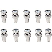 SeCro™ (Pack Of 10) BNC Male to RCA Female Coax Cable Connector Adapter for CCTV Camera - (Buy Original SeCro Brand from only Backbencers Seller to get SeCro Warranty)