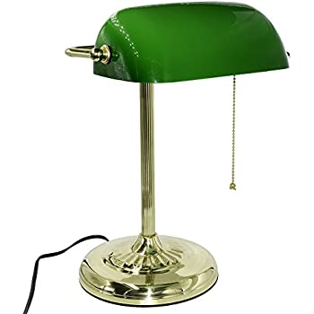 Amazoncom LEDU L557BR Traditional Bankers Lamp 14 High
