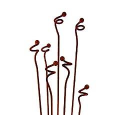 Metal Garden Art Sculpture  Curly Weeds Garden Stakes Sold Individually  Sculptures.
