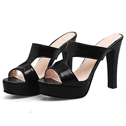 Mules Zanpa Donna Sandali Black 1 Mode WqASfw7H