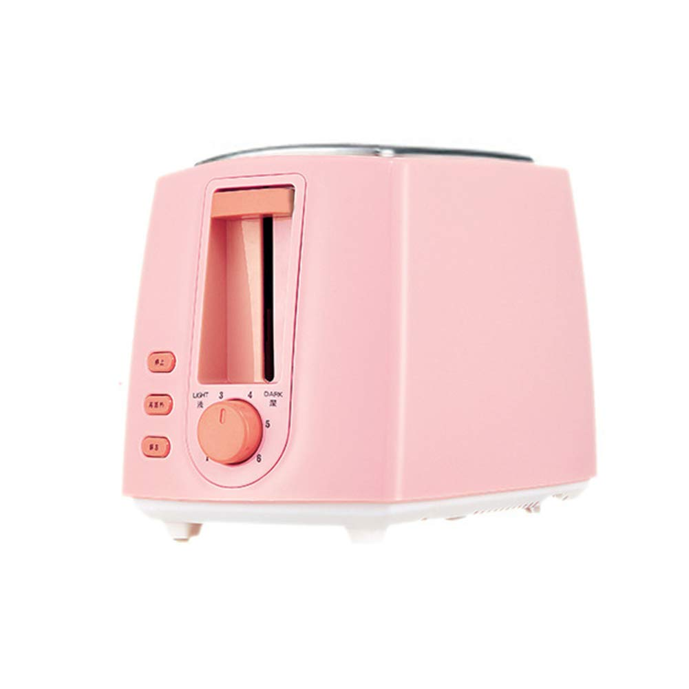 Gyswshh 2-slice Automatic Electric Toaster, Breakfast Maker,Household Bread Toast Machine Pink