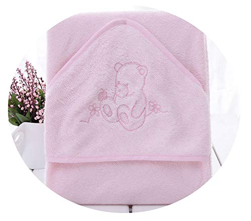 Heat-Tracing 100% Fiber Super Soft and comortable 90x90cm 345gsm Baby Towel Baby Hooded Towel Infant Towel,Pink