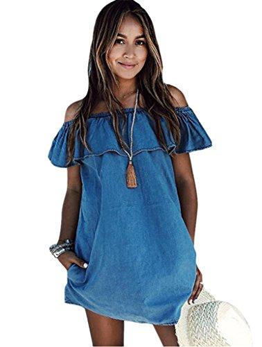 abd-womens-blue-jean-legging-off-shoulder-ruffle-short-sleeve-loose-mini-dress-denim-blue-small