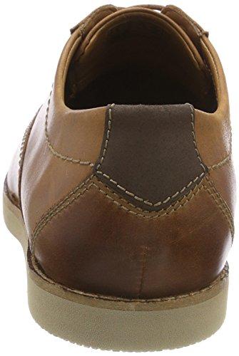 Clarks Raharto Plain, Scarpe Stringate Derby Uomo Marrone (Dark Tan Leather)
