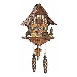 Quartz Cuckoo Clock Black forest house with music TU 4201 QM
