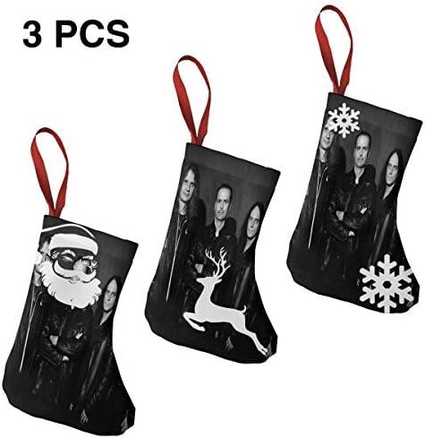 クリスマスの日の靴下 (ソックス3個)クリスマスデコレーションソックス 音楽KISS BAND クリスマス、ハロウィン 家庭用、ショッピングモール用、お祝いの雰囲気を加える 人気を高める、販売、プロモーション、年次式