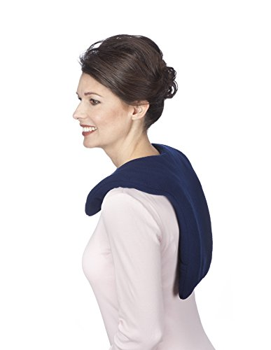 (Sunny Bay Microwavable Shoulder and Upper Back Heat Wrap, Heat Therapy Pad for Sore Neck Shoulder Muscle Pain Relief | Thermal, Reusable, Non Electric Hot Pack Pads or Cold Compress, Leopard, Large)