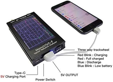 NanoVNA-F Vector Network Analyzer Antennenanalysator 10K-1500MHz 4,3 IPS-Taste Version Hardware V3.1