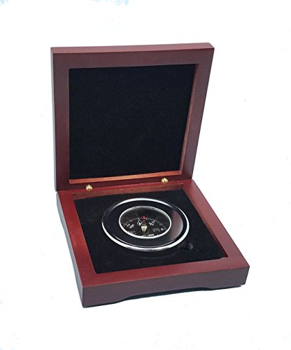 Stanley London Engravable Paperweight Compass with Hardwood