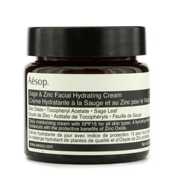 - Aesop Sage and Zinc Facial Hydrating Cream SPF 15, 2.45 Ounce