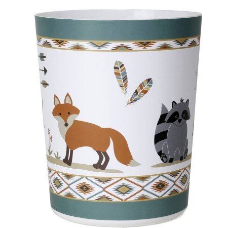 Mainstays Kids Woodland Creatures Plastic Waste Basket by Mainstay