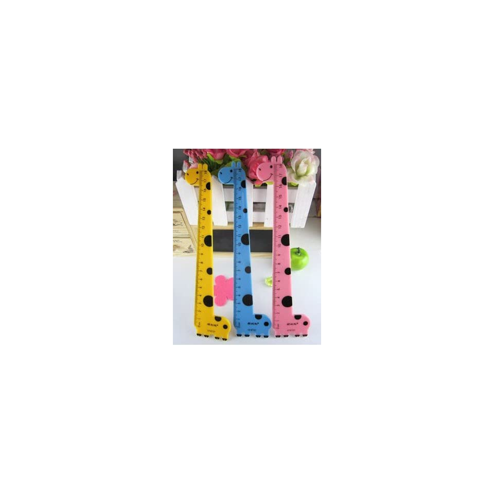 Giraffe Animal Ruler/Measure Bookmarks Student Gift 1pc  Office And School Rulers