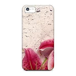 New Iphone 5c Case Cover Casing(decor Lily)