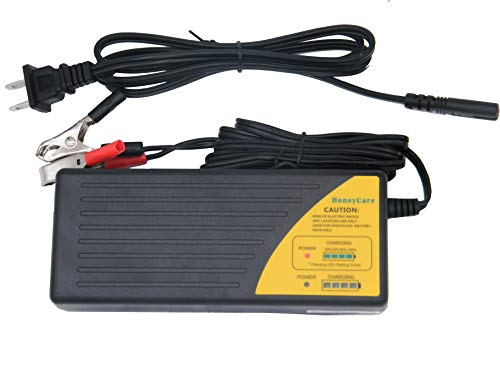 48v Charger Battery - HoneyCare 48V Sealed Lead Acid Battery Charger,SLA AGM Gel VRLA Battery Charger with Fuel Gauge,MCU Control,with Recovery Function Charger for Scooter,Electric Bike (48V Lead Acid Battery Charger)