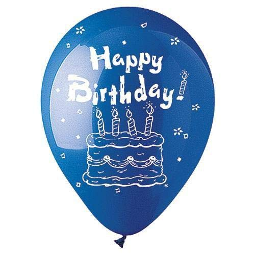 CTI Latex Balloons 912610 Standard Birthday 6 PK Multicolored 12