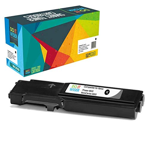 Do it Wiser Extra High Yield Compatible Toner Cartridge for Xerox Phaser 6600 WorkCentre 6605 - Black - 6,000 pages