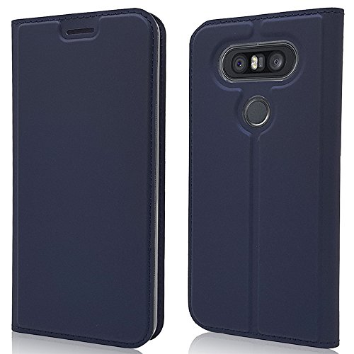 Scheam LG Q8 LG V20 Mini Leather Wallet Case with Cover LG Q8 LG V20 Mini Flip Cover, Cover, Shell Case (Dark ()